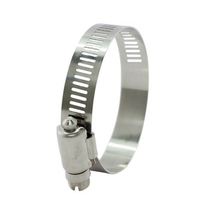 Pack 5 AISI 316 Hose Clamp 52 to 76mm - 12.7mm band