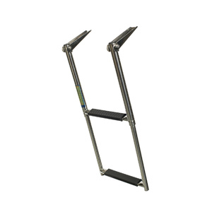 AISI 316 Top Mount 2 Step Telescopic Ladder