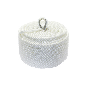 Polyester 3 Strand Twisted Anchor Line, White