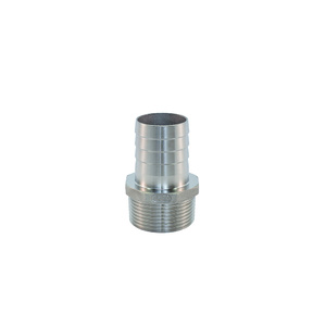 AISI 316 Male to Hose Tail - 1/2 inch BSP X 16mm hose size
