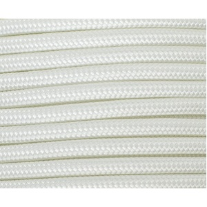 Polyester Double Braided Rope 8mm x 100m, Solid White