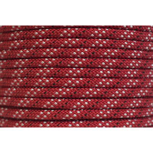Polyester Double Braided Rope 12mm x 1m, Red/White Fleck